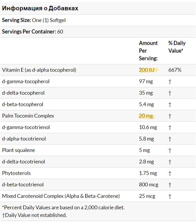ВИТАМИН e - Инструкция по применению, цена, отзывы и аналоги