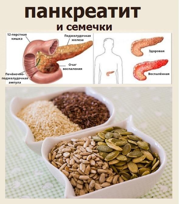 Можно ли семечки при панкреатите?